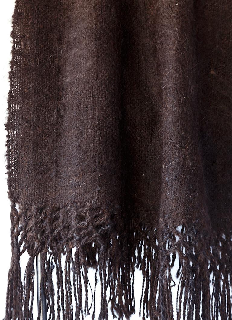 Handgewebte Lama Wolldecke Schwarz Hergestellt In Argentinien Auf