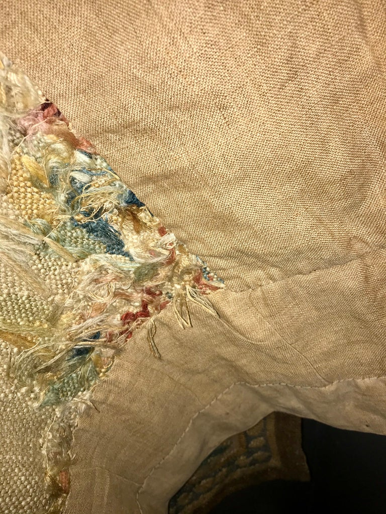 Handwoven Louis XVI Style Floral Tapestry For Sale 6