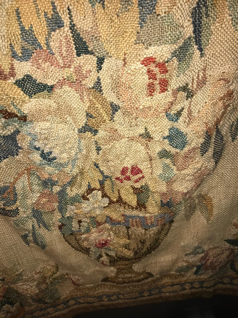 Handwoven Louis XVI Style Floral Tapestry For Sale 1