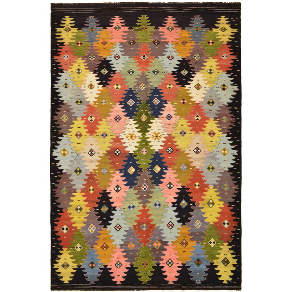 21th Century Handwoven Modern Persian Kilim Carpet