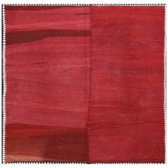 Handwoven Monochrome Vintage Kilim Carpet