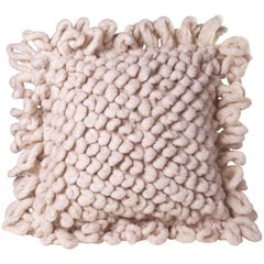 Handwoven Nubby Wool Pillows in Natural, in Stock