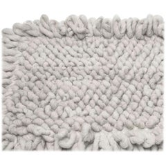 Handwoven Nubby Wool Rug in Natural, Small, in Stock