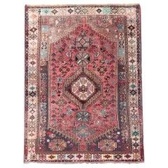 Handwoven Oriental Area Rug, Traditional Wool Carpet Rug