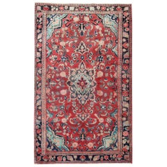 Handwoven Oriental Wool Carpet Traditional Red Medallion Area Rug