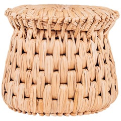 Handwoven Palm 'Icpalli' Stool, Made in Mexico by Luteca