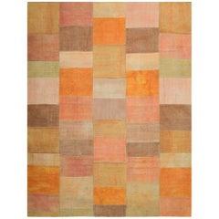 Handwoven Patchwork Kilim Carpet
