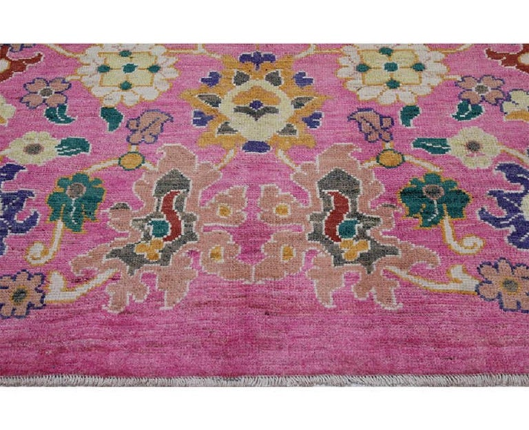 Handwoven Persian Sultanabad Recreation Rug For Sale 4