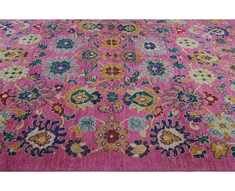 Handwoven Persian Sultanabad Recreation Rug For Sale 6