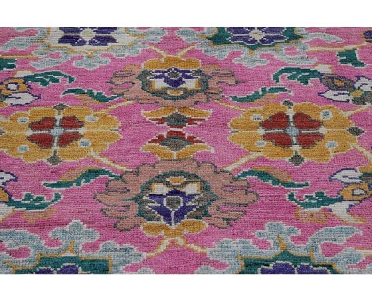 Late 20th Century Handwoven Persian Sultanabad Recreation Rug For Sale