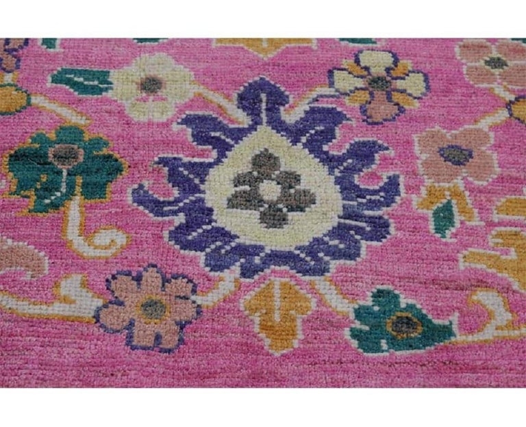 Wool Handwoven Persian Sultanabad Recreation Rug For Sale