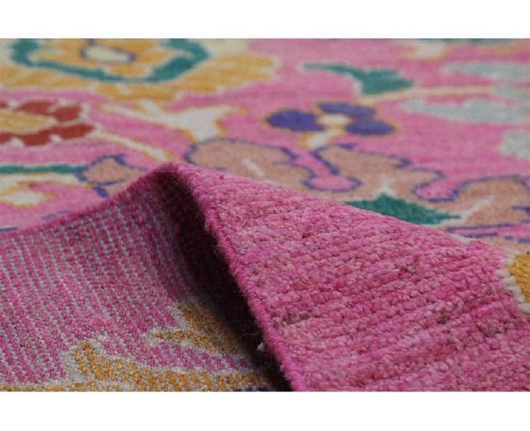 Handwoven Persian Sultanabad Recreation Rug For Sale 1