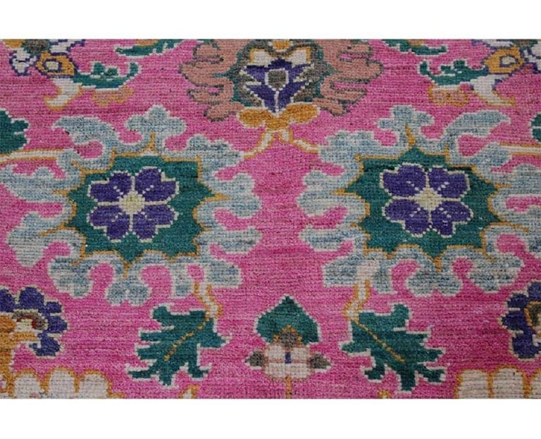Handwoven Persian Sultanabad Recreation Rug For Sale 2