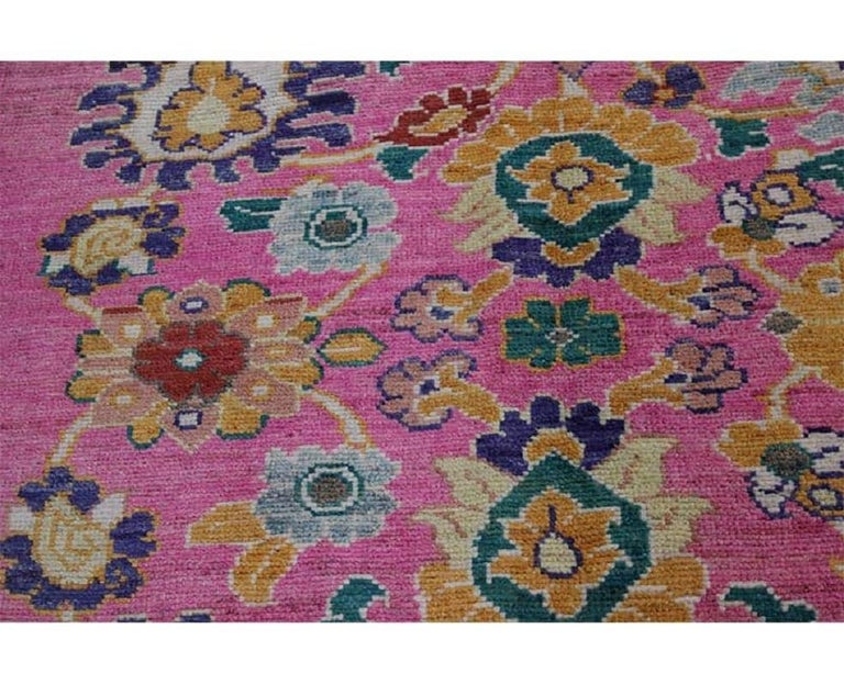 Handwoven Persian Sultanabad Recreation Rug For Sale 3