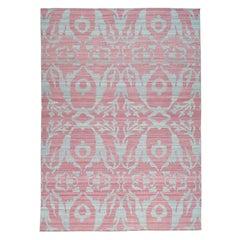 Handwoven Pure Wool Reversible Kilim Flat-Weave Oriental Rug