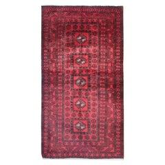 Handwoven Rug Oriental Afghan Carpet Red Wool Area Rug