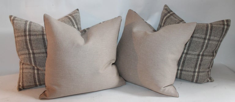 Handwoven Saddle Blanket Pillows, Four In Excellent Condition For Sale In Los Angeles, CA