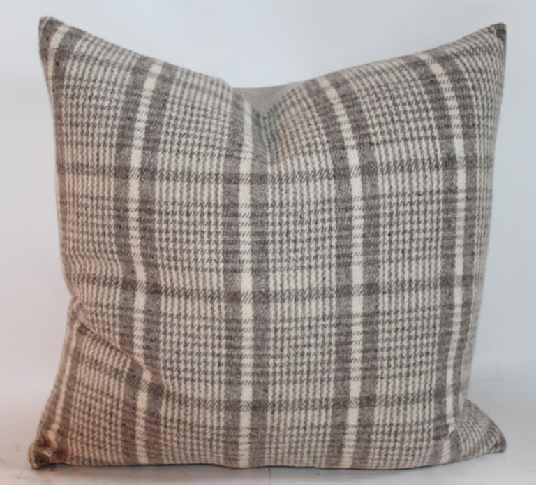 20th Century Handwoven Saddle Blanket Pillows, Four For Sale