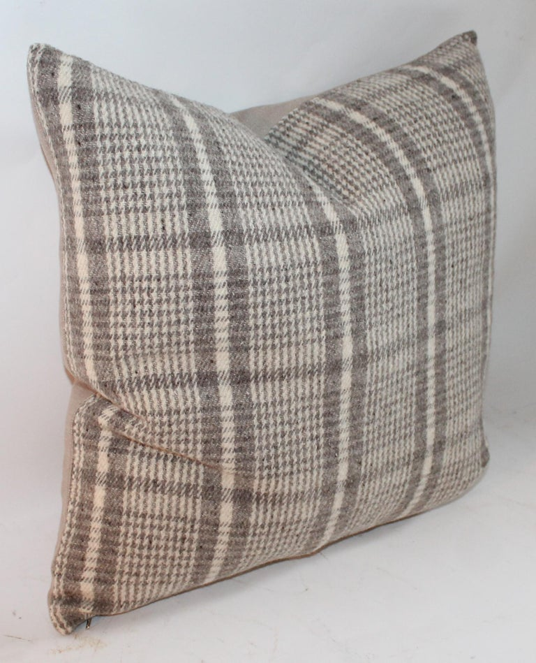 Wool Handwoven Saddle Blanket Pillows, Four For Sale