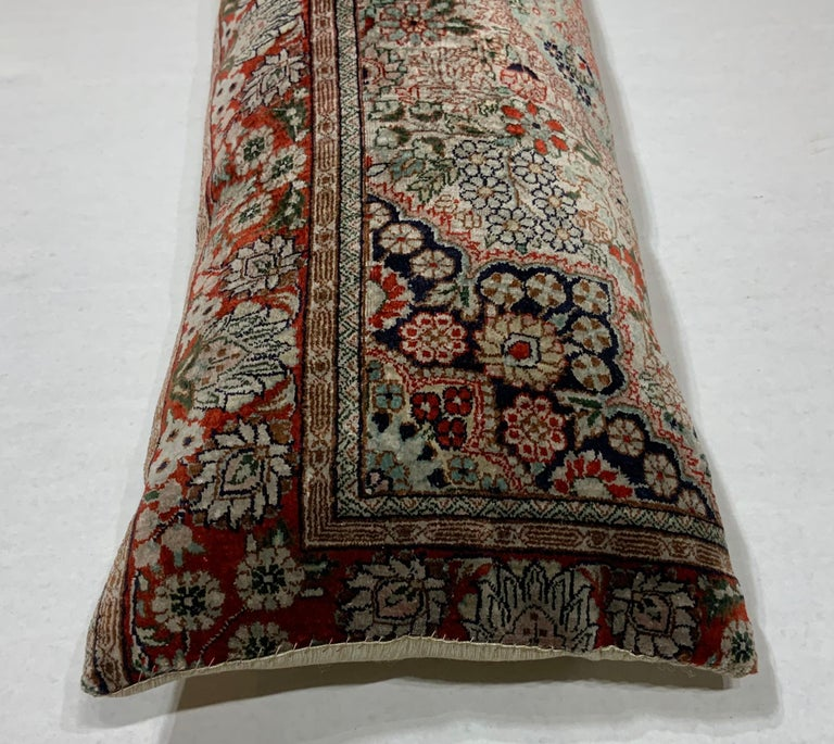 Chinese Handwoven Silk Pillow For Sale