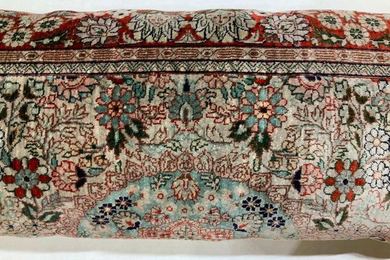 Handwoven Silk Pillow For Sale 1