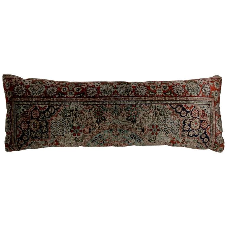 Handwoven Silk Pillow For Sale