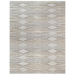 Handwoven Swedish Kilim Inspired Wool Rug