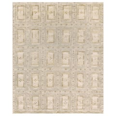Handwoven Swedish Style Flat-Weave Wool Rug