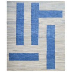 Handwoven Two-Tone Kilim Carpet
