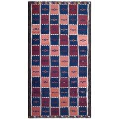 Handwoven Two-Tone Kilim Carpet
