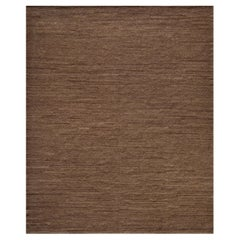 Handwoven Wool Contemporary Flat-Weave Rug