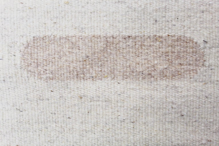 American Handwoven Wool Rug / Kilim, Natural and Bleached Wool, by Andrew Boos For Sale