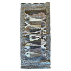 Handwoven Wool Rug/Tapestry after Escher