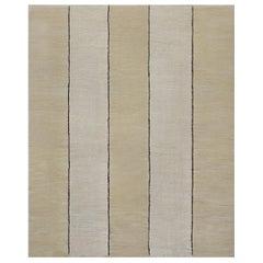 Handwoven Wool Vertical Striped Flatweave Rug