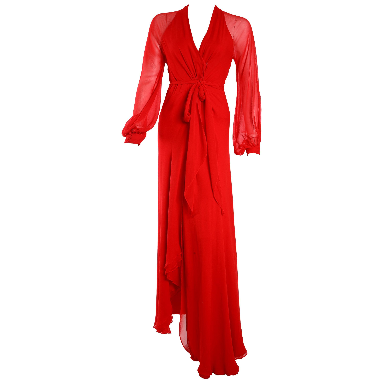 Haney Red Wrap Dress