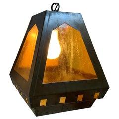 Hanging Art & Craft Style Copper Lantern