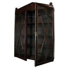 Hanging Bookcase, Book Cupboard, Georgian, Collectors Cabinet