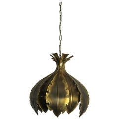 Hanging Brass Lamp from the 1960s by Svend Aage Holm Sørensen, Denmark