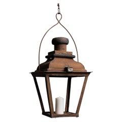 Hanging Copper Lantern