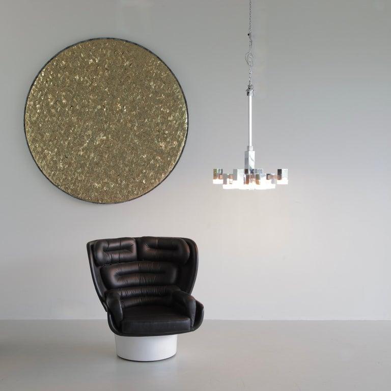 Hanging Lamp by Gaetano Sciolari '12 Lights', 1960s In Good Condition For Sale In Berlin, Berlin