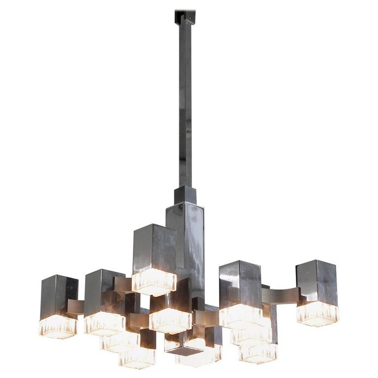 Hanging Lamp by Gaetano Sciolari '12 Lights', 1960s For Sale