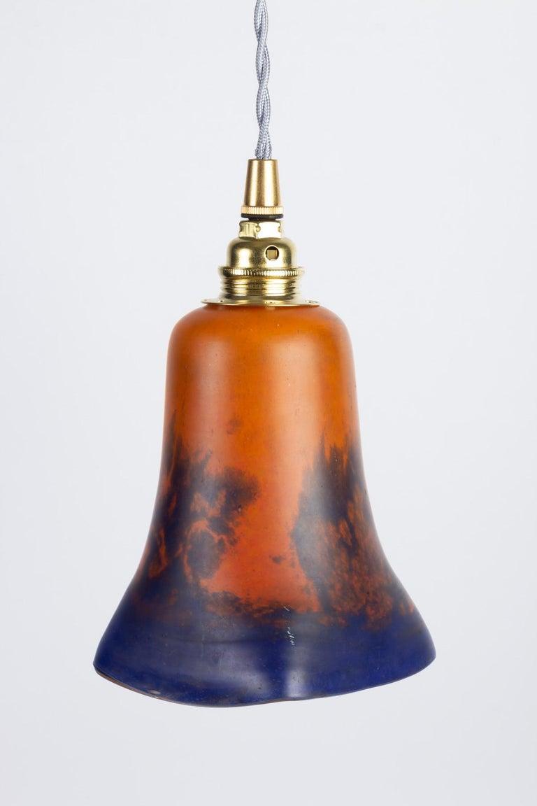 Art Nouveau Hanging Lamp, Glass Paste, 1900 For Sale