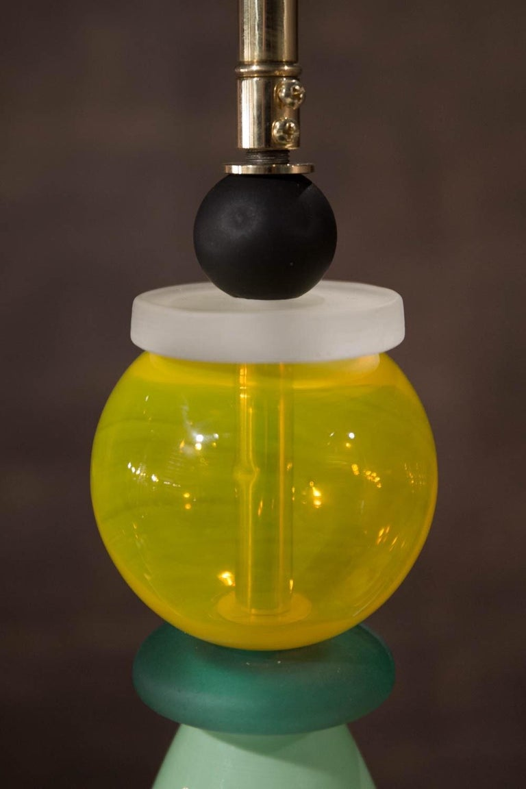 20th Century Hanging Lamp Murano Glass Ceiling Pendant, Italy, 1980 For Sale