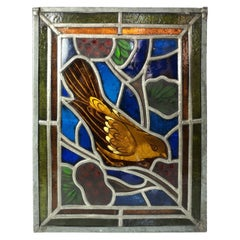 Hanging Stained Glass Window with Soldering, Mid-19th Century