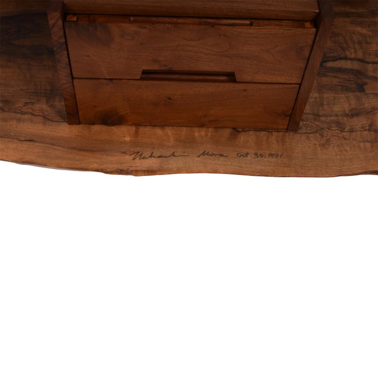 Hanging Wall Shelf/Cabinet Mira Nakashima 'Persian Walnut' In Good Condition For Sale In Dallas, TX