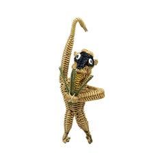 Hanging Wicker Monkey after Mario Lopez Torres