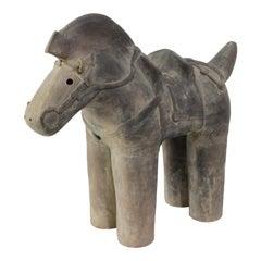 Haniwa Style Horse Figure Unglazed Terracotta