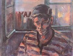 'Portrait of a Young Man', Dennis the Menace, Walt Disney, Figural Oil