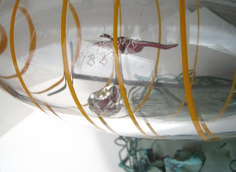 American Hank Murta Adams, Fused, Glass/Copper Studio Sculpture,