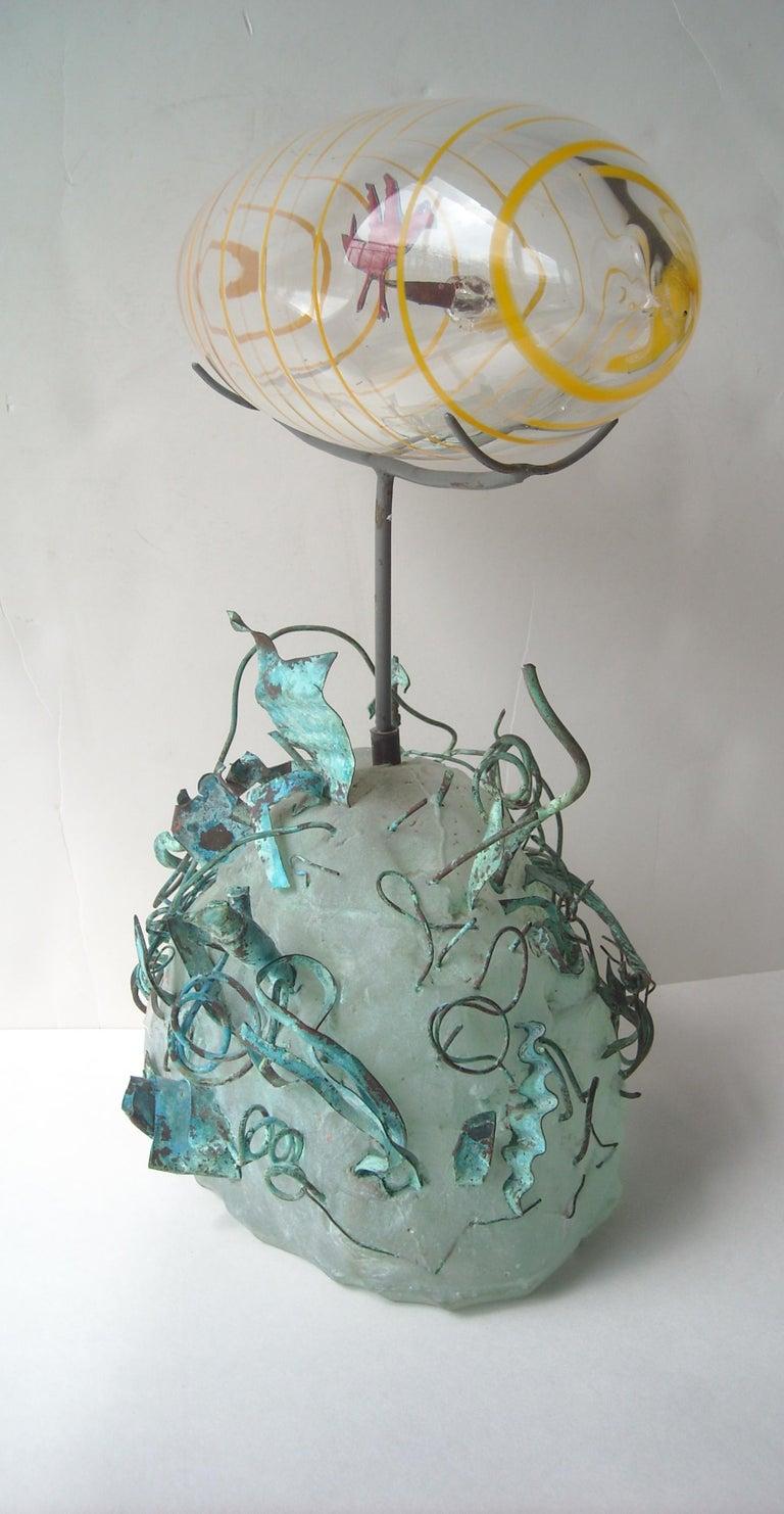 Hank Murta Adams, Fused, Glass/Copper Studio Sculpture,